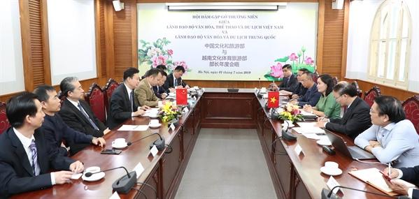 Đẩy mạnhtriển khai kế hoạch hợp tác văn hóa và du lịch Việt Nam – Trung Quốc