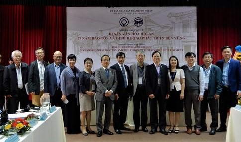 Hội thảo quốc tế 20 năm bảo tồn, phát huy giá trị di sản Hội An