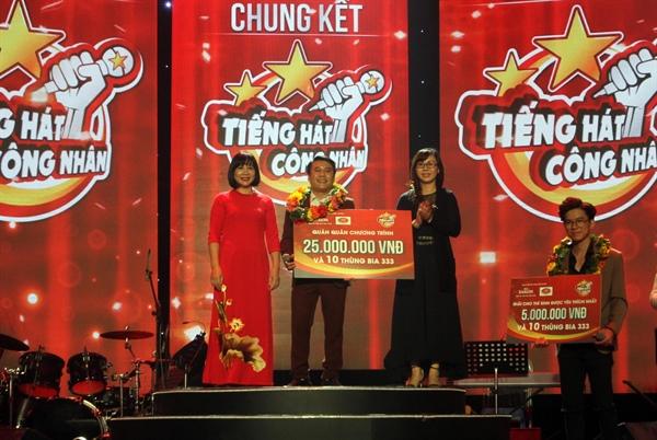 Hà Thanh Tùng đoạt giải Nhất Tiếng hát công nhân